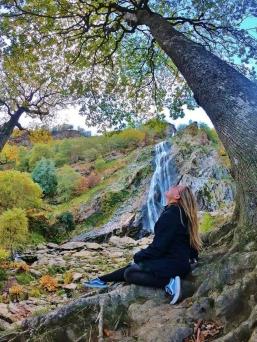 Kloe at Powerscourt Waterfall