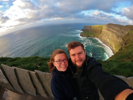 Cliffs of Moher couple
